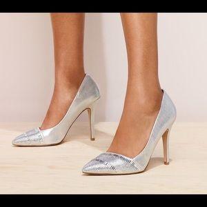 Aldo Cavazzana Silver Pumps Pointy Heels NWT